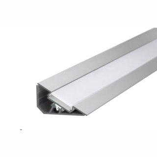 MikaLux LOC-30 Profil, 52x 26,7x45,6 mm, für LED-Streifen, für rechtwinkligen Einbau, pro Meter