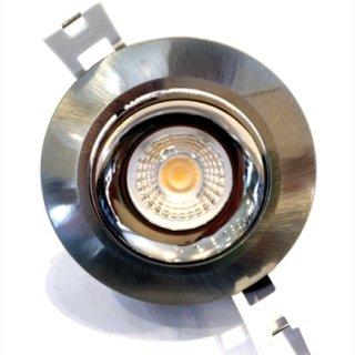 Downlight COB Nichia 7W dimmbar, Einbauring nickel, schwenkbar, DA=75mm