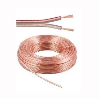 NV-Kabel Kupfer 2x0,75mm2 zweiadrig, transparent